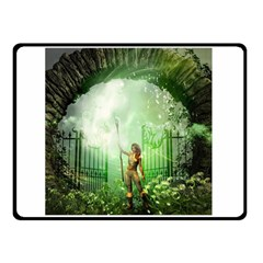 The Gate In The Magical World Double Sided Fleece Blanket (small)