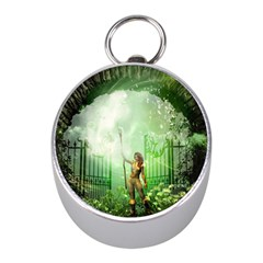The Gate In The Magical World Mini Silver Compasses