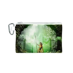 The Gate In The Magical World Canvas Cosmetic Bag (S)