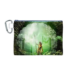 The Gate In The Magical World Canvas Cosmetic Bag (M)