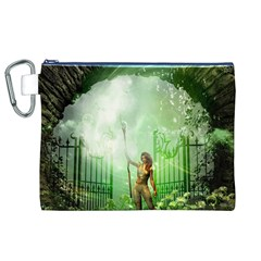 The Gate In The Magical World Canvas Cosmetic Bag (XL)