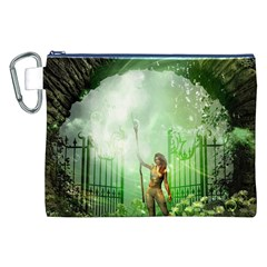The Gate In The Magical World Canvas Cosmetic Bag (xxl)