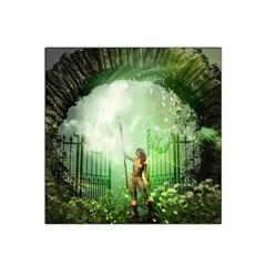 The Gate In The Magical World Satin Bandana Scarf