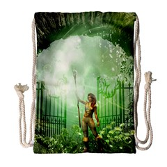 The Gate In The Magical World Drawstring Bag (large)