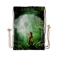 The Gate In The Magical World Drawstring Bag (Small)