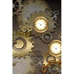 Steampunk, Golden Design With Clocks And Gears 5 5  X 8 5  Notebooks