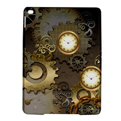 Steampunk, Golden Design With Clocks And Gears iPad Air 2 Hardshell Cases