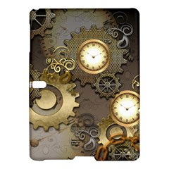 Steampunk, Golden Design With Clocks And Gears Samsung Galaxy Tab S (10.5 ) Hardshell Case