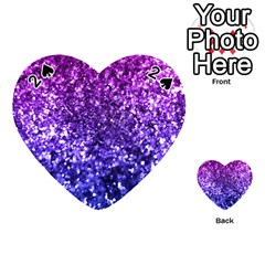 Midnight Glitter Playing Cards 54 (Heart)
