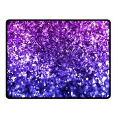 Midnight Glitter Fleece Blanket (Small)