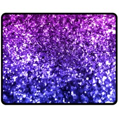 Midnight Glitter Double Sided Fleece Blanket (Medium)