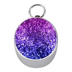 Midnight Glitter Mini Silver Compasses