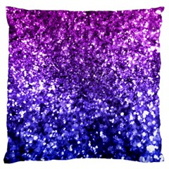Midnight Glitter Large Flano Cushion Cases (one Side)