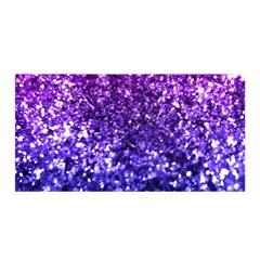 Midnight Glitter Satin Wrap
