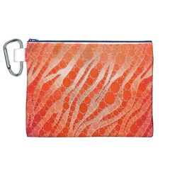 Florescent Orange Zebra Abstract  Canvas Cosmetic Bag (XL)