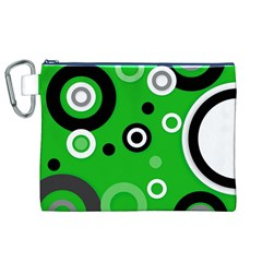 Green Abstract Pattern  Canvas Cosmetic Bag (XL)