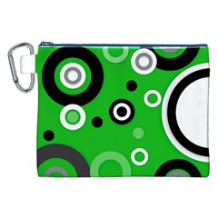 Green Abstract Pattern  Canvas Cosmetic Bag (XXL)