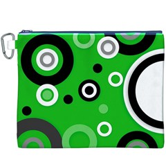 Green Abstract Pattern  Canvas Cosmetic Bag (XXXL)