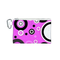 Florescent Pink Vector pattern  Canvas Cosmetic Bag (S)