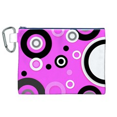Florescent Pink Vector pattern  Canvas Cosmetic Bag (XL)