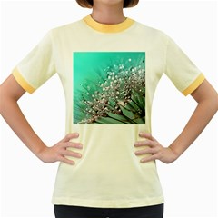 Dandelion 2015 0701 Women s Fitted Ringer T-Shirts