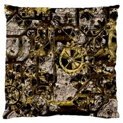 Metal Steampunk  Large Flano Cushion Cases (One Side)