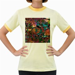 Steampunk Abstract Women s Fitted Ringer T Shirts