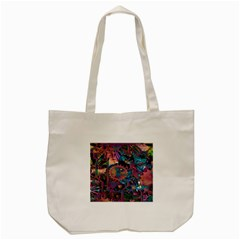 Steampunk Abstract Tote Bag (Cream)