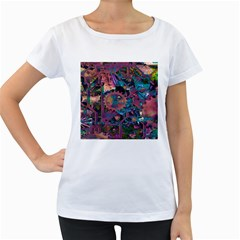 Steampunk Abstract Women s Loose-Fit T-Shirt (White)