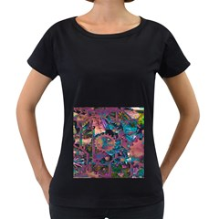 Steampunk Abstract Women s Loose Fit T Shirt (black)