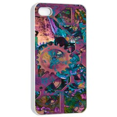 Steampunk Abstract Apple iPhone 4/4s Seamless Case (White)