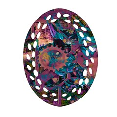Steampunk Abstract Oval Filigree Ornament (2-Side)
