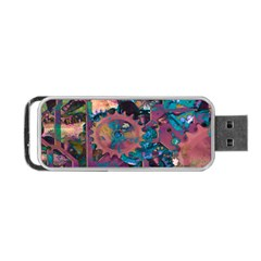 Steampunk Abstract Portable USB Flash (One Side)