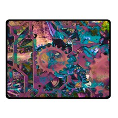 Steampunk Abstract Double Sided Fleece Blanket (Small)