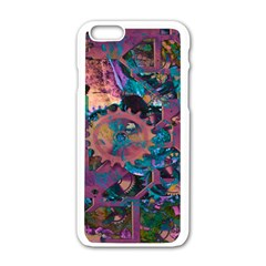 Steampunk Abstract Apple Iphone 6 White Enamel Case