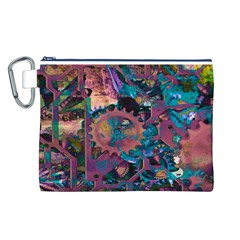 Steampunk Abstract Canvas Cosmetic Bag (L)