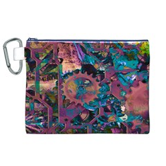 Steampunk Abstract Canvas Cosmetic Bag (XL)