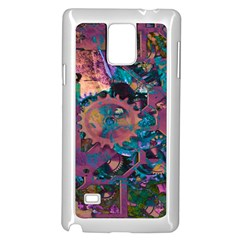 Steampunk Abstract Samsung Galaxy Note 4 Case (White)