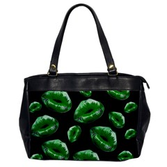 Sassy Florescent Green Lips Office Handbags