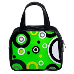 Florescent Green Yellow Abstract  Classic Handbags (2 Sides)