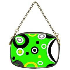 Florescent Green Yellow Abstract  Chain Purses (one Side)