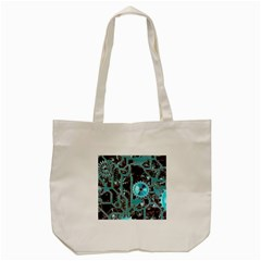 Steampunk Gears Turquoise Tote Bag (Cream)