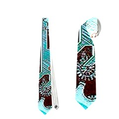 Steampunk Gears Turquoise Neckties (One Side)
