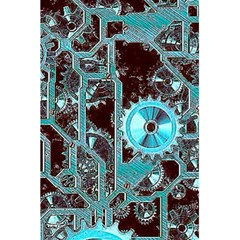 Steampunk Gears Turquoise 5.5  x 8.5  Notebooks