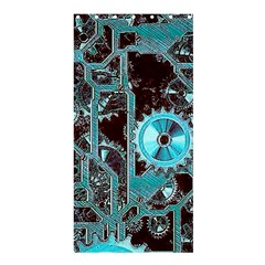 Steampunk Gears Turquoise Shower Curtain 36  x 72  (Stall)