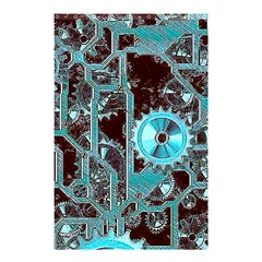 Steampunk Gears Turquoise Shower Curtain 48  X 72  (small)