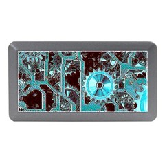 Steampunk Gears Turquoise Memory Card Reader (Mini)