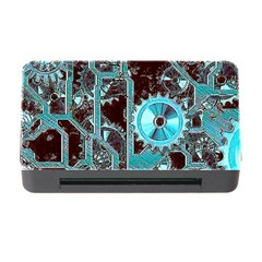 Steampunk Gears Turquoise Memory Card Reader with CF