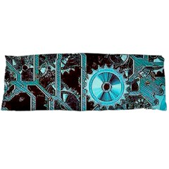 Steampunk Gears Turquoise Body Pillow Cases Dakimakura (Two Sides)