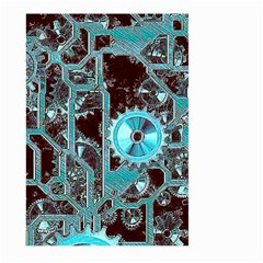 Steampunk Gears Turquoise Large Garden Flag (two Sides)